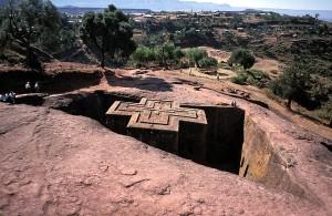 Bete Giyorgis, Lalibela, paysage d'Ethiopie