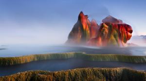 Fly Geyser, Nevada, paysage Etats-Unis
