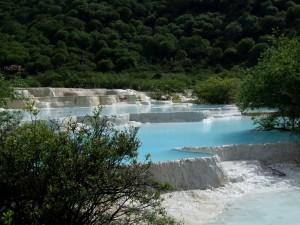 Huanglong piscines naturelles, paysage de Chine