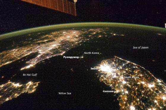 coree du nord vue satellite